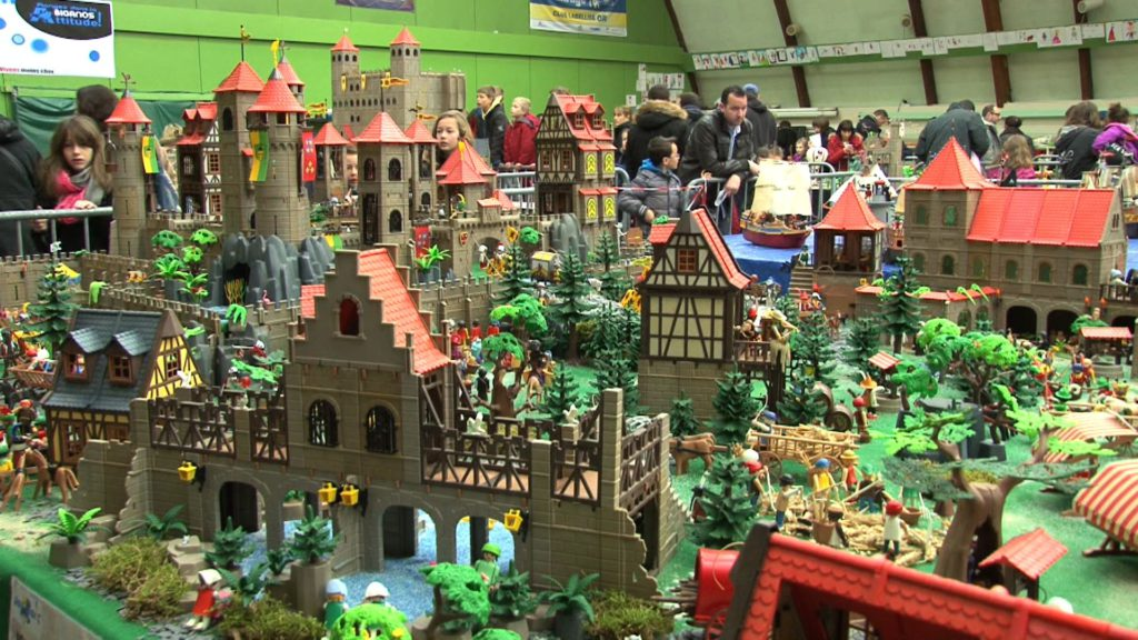 Diorama playmobil castles and knights