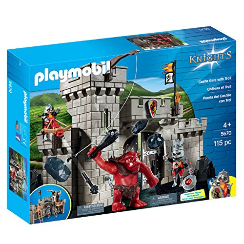 Playmobil Knights Castle Gate with Troll 5670